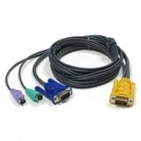 Кабель для переключателя ATEN 2L-5203P 3 м, PS/2+PS/2+VGA