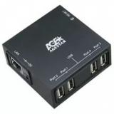 Концентратор AgeStar LB3-G 4 порта USB 2.0, 1 порт 10/100 LAN