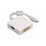 Переходник Mini-DP/DP+HDMI+DVI (20M/20F+19F+29F) 0.2 м (блистер) белый (Hama H-53245)