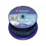 Диск CD-R Verbatim 700 Mb 52х DL cake box 50шт