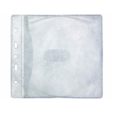 Конверт пластиковый на 2 CD с перфорацией для скоросшивателя (50 шт.) белые