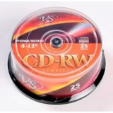 Диск CD-RW Data Standard 700 Mb 4-12х Cake box 25