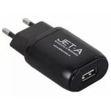 Зарядное устройство от сети 2xUSB, 2100mA черное (Jet.A UC-Z14 Black)