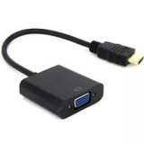 Переходник HDMI/VGA (19M/15F) черный (Gembird A-HDMI-VGA-04)