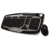 Клавиатура Oklick 200M (беспр. клав.+беспр.мышь) Nano Receiver USB black