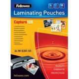 Пленка Fellowes 65х95мм 125мкм для ламинирования глянцевая (100шт) FS-53067