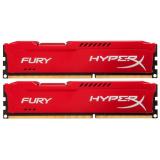 Память DIMM DDR3 PC-14900 16Gb (2x8Gb) Kingston HyperX Fury Red (HX318C10FRK2/16)