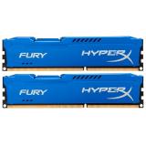 Память DIMM DDR3 PC-12800 16Gb (2x8Gb) Kingston HyperX Fury Blue (HX316C10FK2/16)