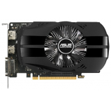 Видеоадаптер PCI-E ASUS GeForce GTX1050 Ti 4096Mb PH-GTX1050TI-4G (RTL) GDDR5 128bit DVI-D/HDMI/DP