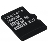 Карта памяти microSD 32Gb Kingston Class 10 UHS-I без адаптера (SDCS/32GBSP)