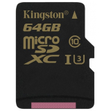 Карта памяти microSD 64Gb Kingston Class 10 UHS-I U3 с адаптером (SDCG/64GB)