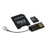 Карта памяти microSD 32Gb Kingston Class 4 с адаптером и кардридером (MBLY4G2/32GB)