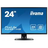 "Монитор-ЖК 23.6"" Iiyama ProLite X2481HS-B1 LED Wide 1920*1080 VA 6ms DVI HDMI VGA Black"