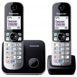 Телефон Panasonic KX-TG6812RUB радио Dect 2трубки