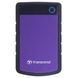 """Жесткий диск внешний 2.5"""" 1Tb Transcend (5400/USB3.0) TS1TSJ25H3P черный/фиолетовый"""