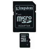 Карта памяти microSD 16Gb Kingston Class 4 с адаптером (SDC4/16GB)
