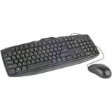 Клавиатура Jet.A SlimLine KM4 (клавиатура+мышь) черная USB