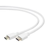 Кабель HDMI (19M/19M) 1.8 м (пакет) v1.4, экранированный, позолоченные контакты, белый (Gembird CC-HDMI4-W-6)