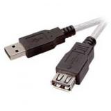 Кабель USB 2.0 AM/AF 3 м (пакет) удлинитель, экранированный, позолоченные контакты, черный (Gembird CCP-USB2-AMAF-10)