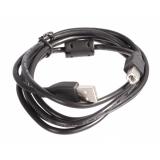 Кабель USB 2.0 AM/BM 3 м (пакет) экранированный, позолоченные контакты, ферритовое кольцо, черный (Gembird CCF-USB2-AMBM-10)
