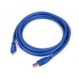 Кабель USB 3.0 AM/microBM 1.8 м (пакет) экранированный, позолоченные контакты, синий (Gembird CCP-mUSB3-AMBM-6)