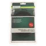 Кабель USB 3.0 AM/microBM 5 м (блистер) экранированный, черный (Digitus DB-272731)