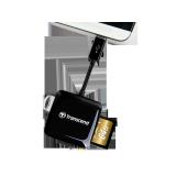 Кардридер microUSB Transcend TS-RDP9K 2-in-1 (SD, microSD), 1xUSB 2.0 (OTG), для подключения к телефонам/планшетам