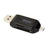 Кардридер microUSB/USB GINZZU GR-583UB 2-in-1 (SD, microSD), для подключения к телефонам/планшетам/ПК