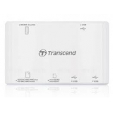 Кардридер USB Transcend TS-RDP7W All-in-1, 3xUSB 2.0, белый