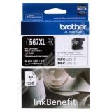 Картридж Brother LC567XLBK черный для MFC-J2510/2310