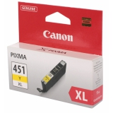 Картридж Canon CLI-451XL Y для PIXMA iP7240/MG6340/MG5440