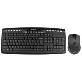 Клавиатура + мышь A4TECH 9200F клав:черный мышь:черный USB 2.0 беспроводная Multimedia