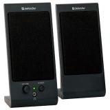Колонки Defender SPK-170 (2.0) 2x2Вт, пластик, черные, питание USB