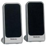 Колонки Defender SPK-225 (2.0) 2x2Вт, пластик, черно-серебристые, питание USB