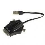 Концентратор GINZZU GR-453UB 1 порт USB 2.0, 1 порт mini-USB, 1 порт micro-USB, 1 порт iDock