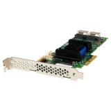 Контроллер SAS/SATA Adaptec ASR-6805E (PCI-E 2.0 x4, LP) (KIT) 8xSAS 6G/RAID 0,1,1E,10/2xSFF8087 (mini SAS int)/128Mb cache, в комплекте два кабеля SFF8087-4xSATA 70 см (2271800-R)