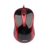 Мышь A4TECH N-350-2 V-Track  USB red/black