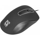Мышь Defender Datum MM-070 USB черная нескользящее прорезиненное покрытие (52070)