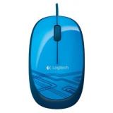 Мышь Logitech M105 оптическая проводная синяя с рисунком 1000dpi USB 1.5м (910-003119)