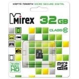 Карта памяти microSD 32Gb Mirex Class 10 без адаптера (13612-MC10SD32)