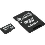 Память SD Card 64Gb Smartbuy SDXC micro Class 10 с адаптером SD