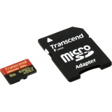 Память SD Card 8Gb Transcend micro SDHC Class 10 UHS-I Ultimate 600x с адаптером (TS8GUSDHC10U1)