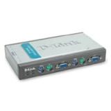 Переключатель D-Link DKVM-4K PS/2/VGA, 4-х портовый, два кабеля 1.8 м в комплекте