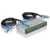 Переключатель D-Link DKVM-4U USB/VGA, 4-х портовый, два кабеля 1.8 м в комплекте