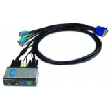 Переключатель D-Link KVM-121 PS/2/VGA/audio, 2-х портовый, два кабеля 1.8 м в комплекте