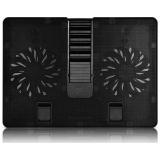"Подставка под ноутбук DEEPCOOL U-PAL черная, 2 вентилятора 140мм, до 15.6"", 5 уровней наклона, USB 3.0"