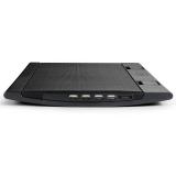 """Подставка для ноутбука DEEPCOOL WIND PAL Black 2 вентилятора (140мм) с регулировкой скорости, до 15.6"""", 4 USB BOX"""