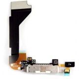 Шлейф iPhone4 с разъемом для зарядки (белый)