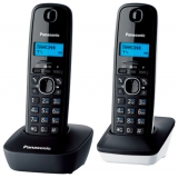 Телефон Panasonic KX-TG1612RU1 радио Dect 2 трубки